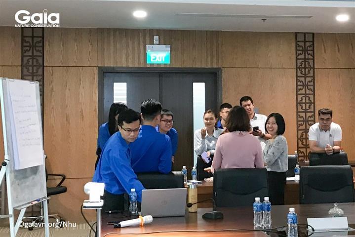 Thảo luận nhóm về sáng kiến Văn phòng Xanh tại MobiFone