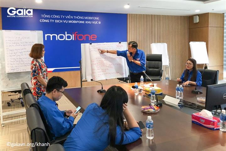 Trình bày kết quả thảo luận nhóm các sáng kiến Sống Xanh tại MobiFone