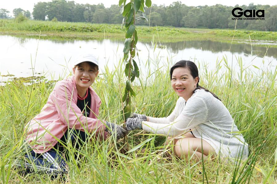 Hào hứng trồng rừng khôi phục hệ sinh thái đất ngập nước Tràm Chim.