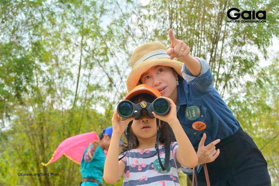 Chăm chú xem chim  và tìm hiểu về các loài him quý hiếm.