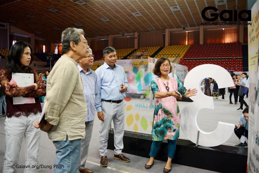 Bà Đỗ Thị Thanh Huyền – Nhà sáng lập&Giám đốc Trung tâm Bảo tồn Thiên nhiên Gaia chia sẻ về chương trình hoạt động.