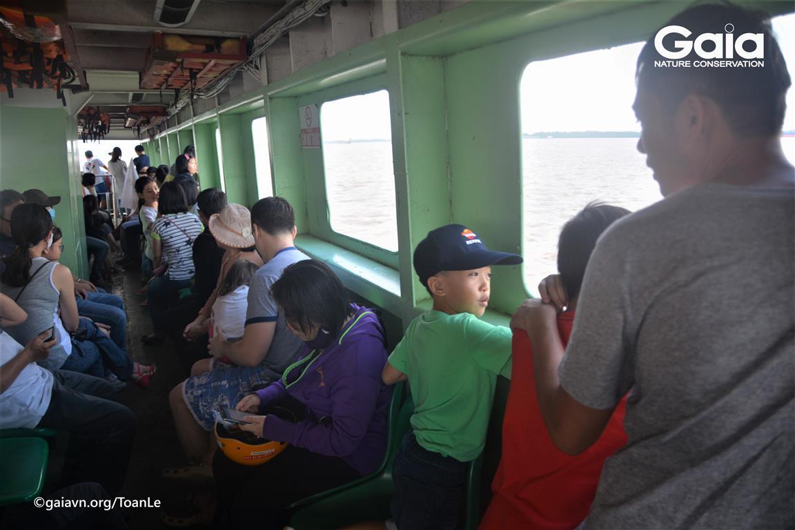 Quan sát sông nước khi qua phà Bình Khánh