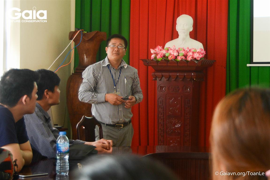 ng Vương Hoà - Phó Giám đốc Vườn Quốc gia Bù Gia Mập giới thiệu về Vườn