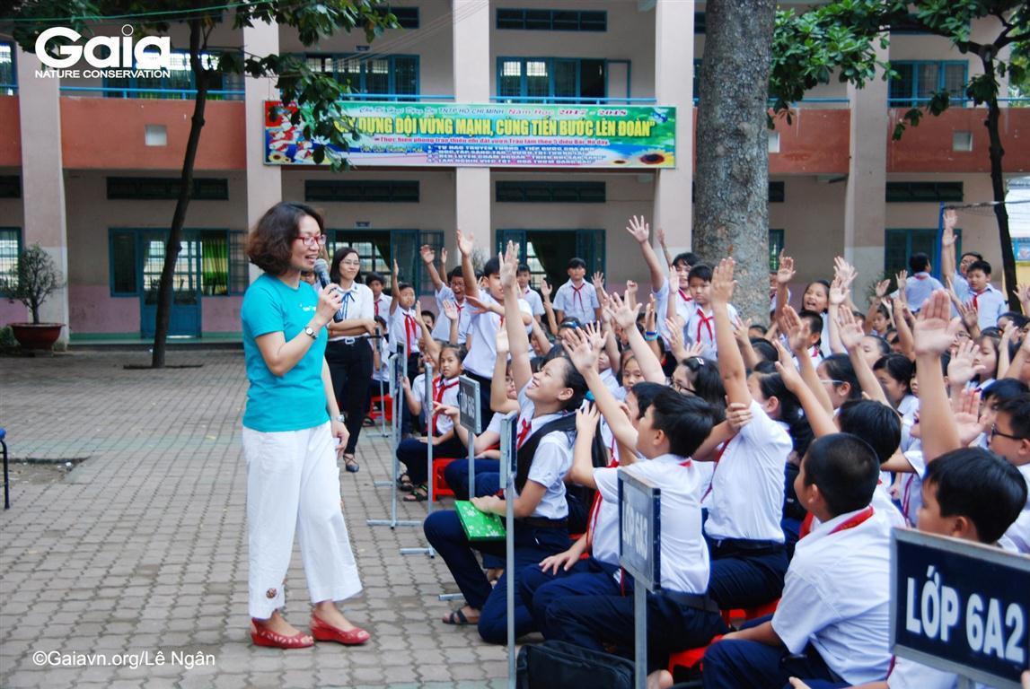 Học sinh lớp 6,8 hào hứng tham gia chương trình