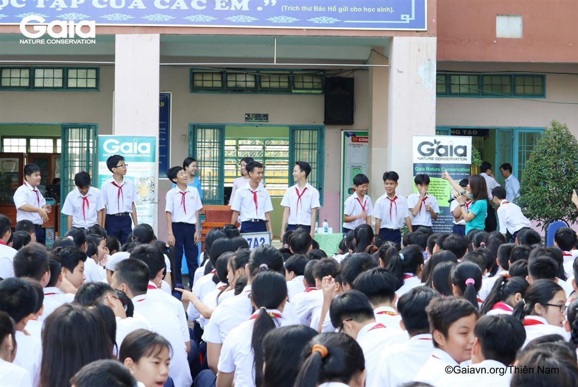 Học sinh lớp 7,9 trổ tài biểu diễn Động vật hoang dã