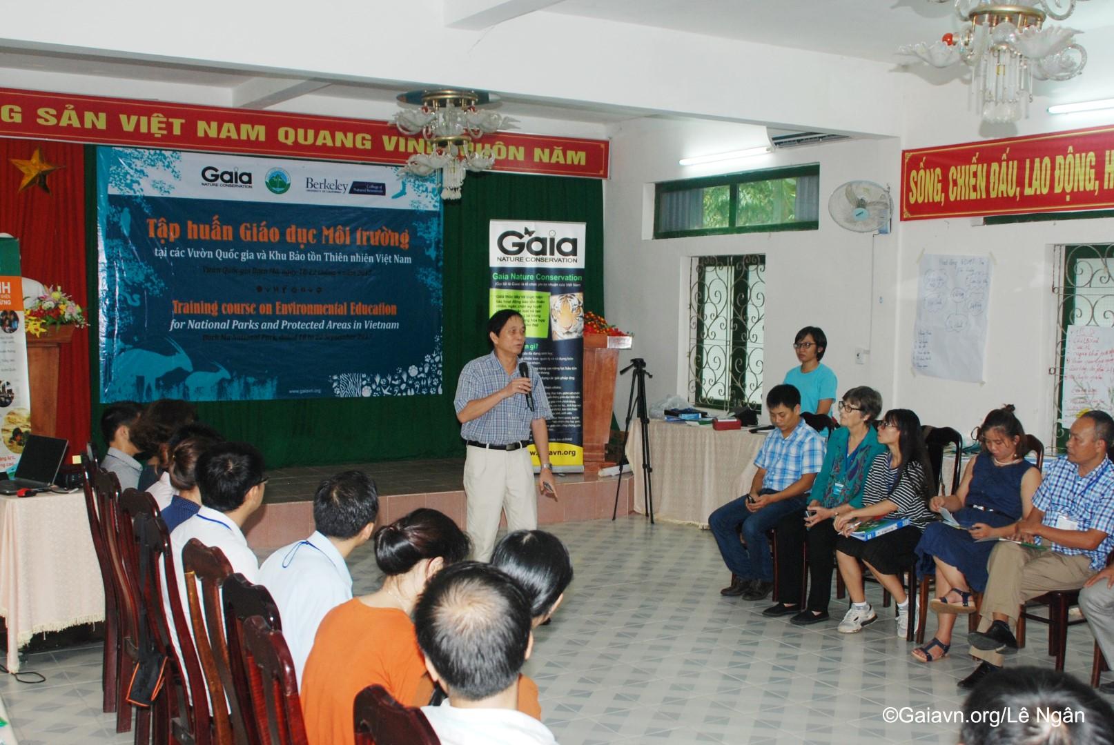 ng Huỳnh Văn Kéo – Giám đốc VQG Bạch Mã phát biểu tại buổi tổng kết tập huấn