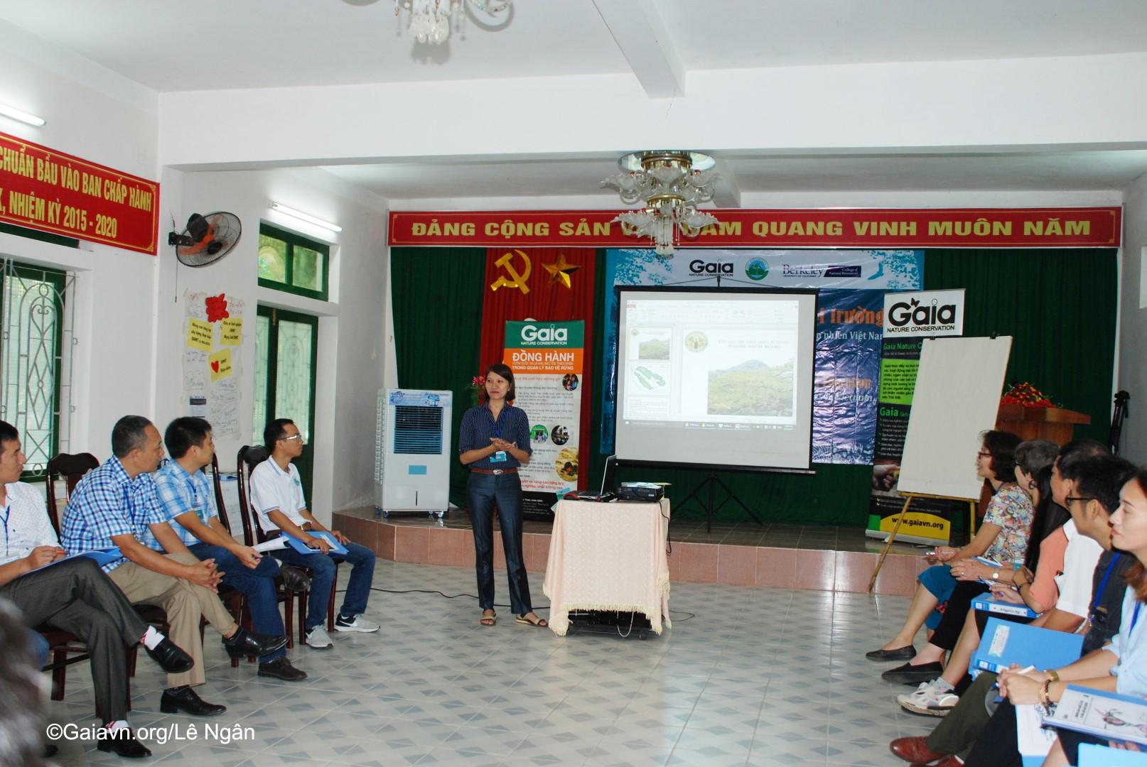 Học viên chia sẻ hoạt động giáo dục môi trường tại đơn vị mình