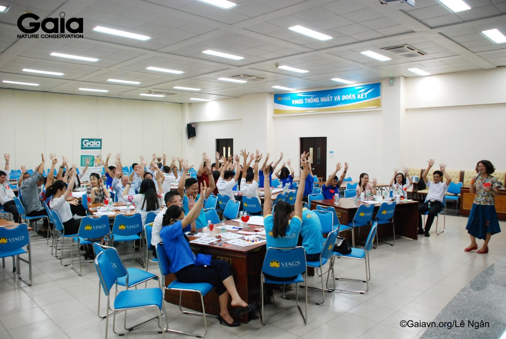 Một hoạt động tại tập huấnCán bộ Vietnam Airlines rất hài lòng với tập huấn